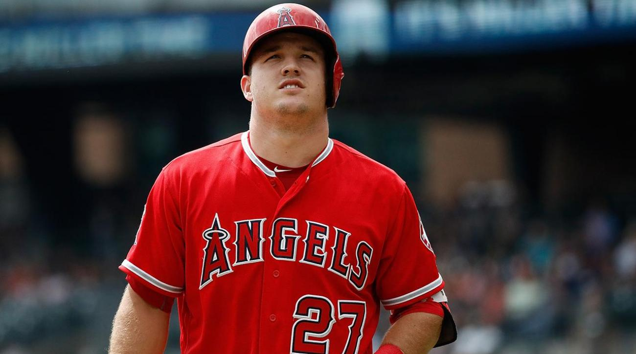 Angels OF Mike Trout involved in car accident IMAGE