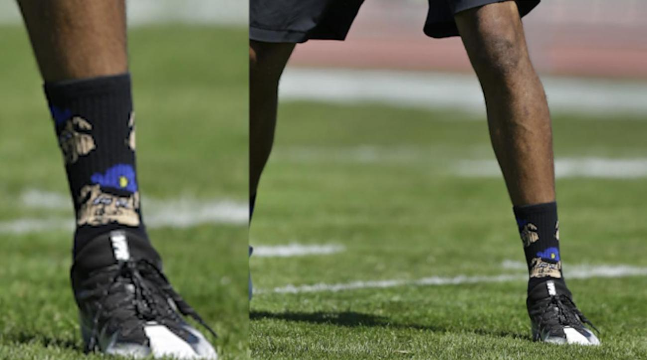 Colin Kaepernick wore controversial 'police' socks to practice