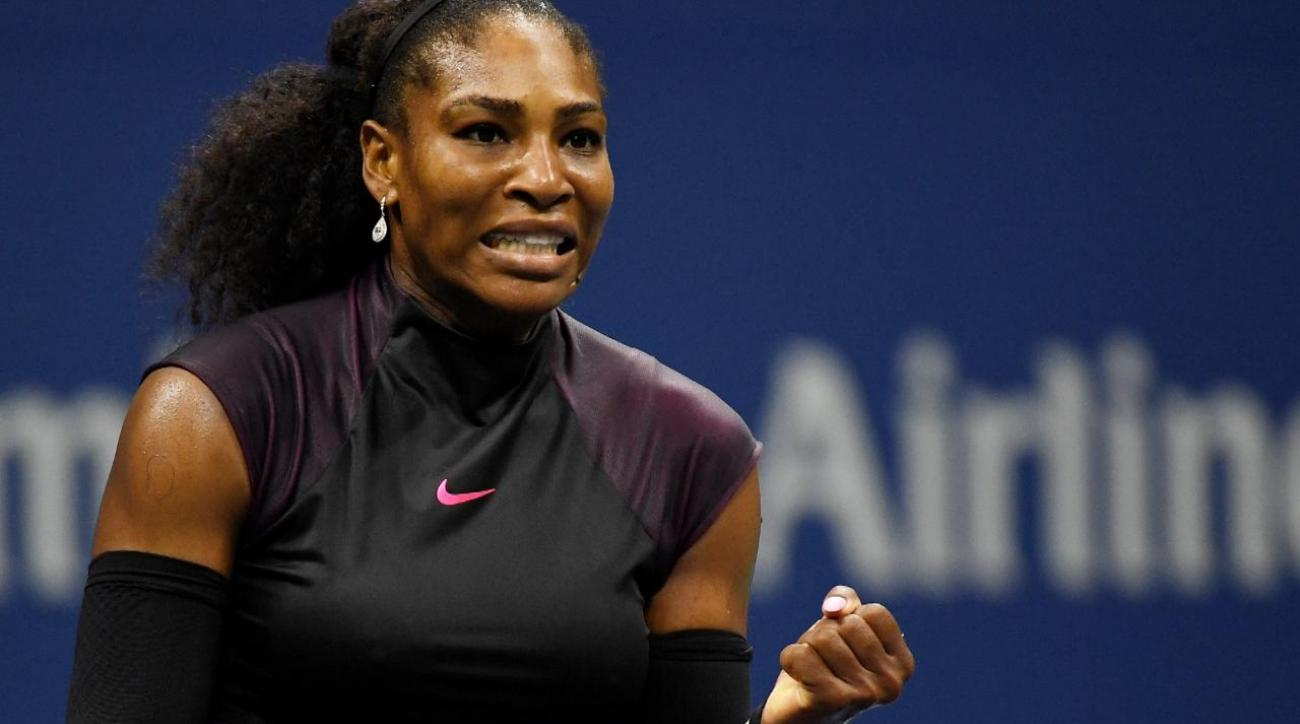 Serena Williams ties Grand Slam match wins record