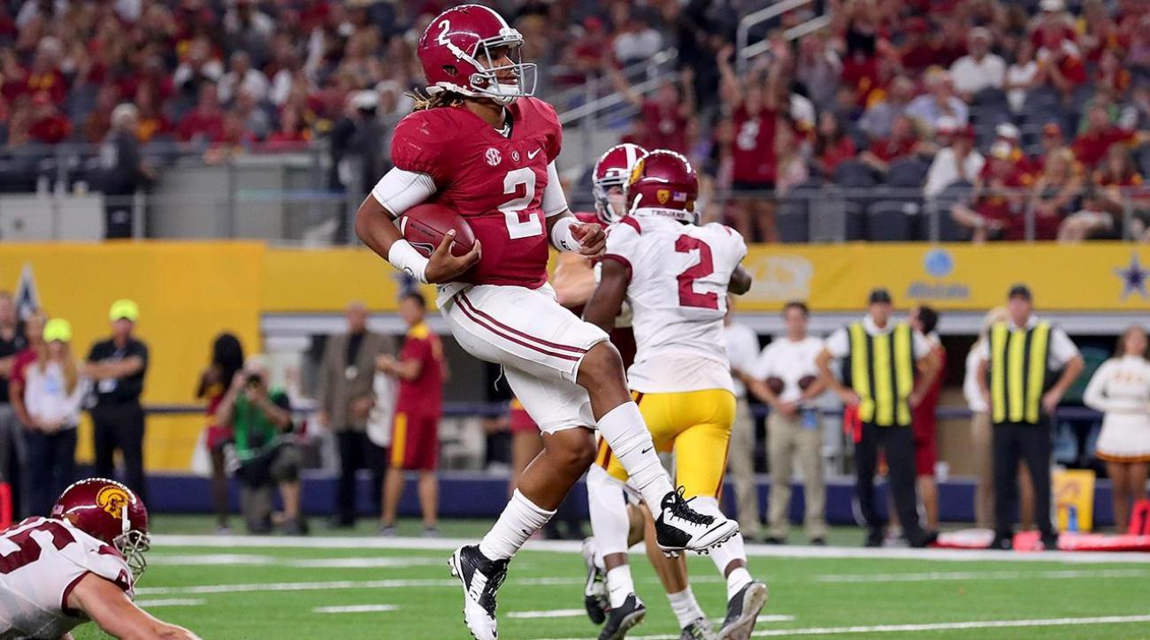 Alabama vs USC: Jalen Hurts stars in Tide's blowout win ...
