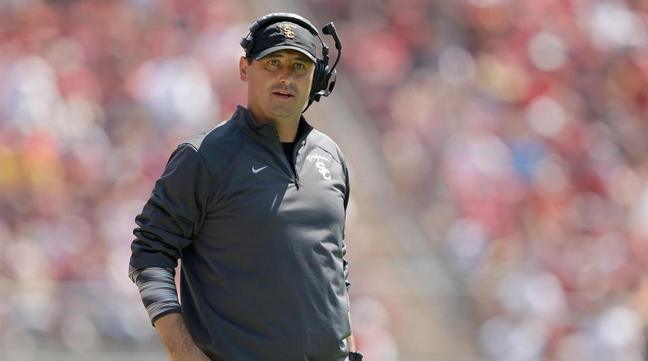 Alabama hires former USC coach Steve Sarkisian as offensive analyst