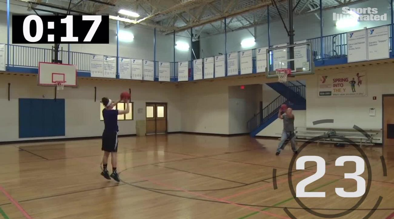 Leah Church hits world-record 32 3-pointers in one minute
