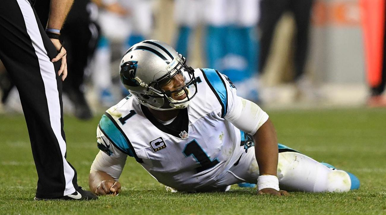 Cam Newton says he tries 'to warn refs' about hits