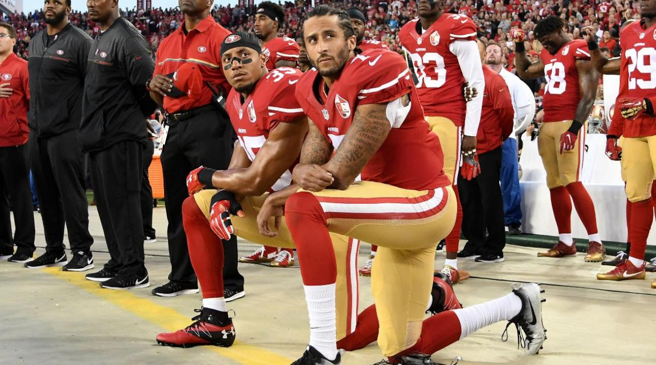 Colin Kaepernick continues anthem protest, two Rams raise fists