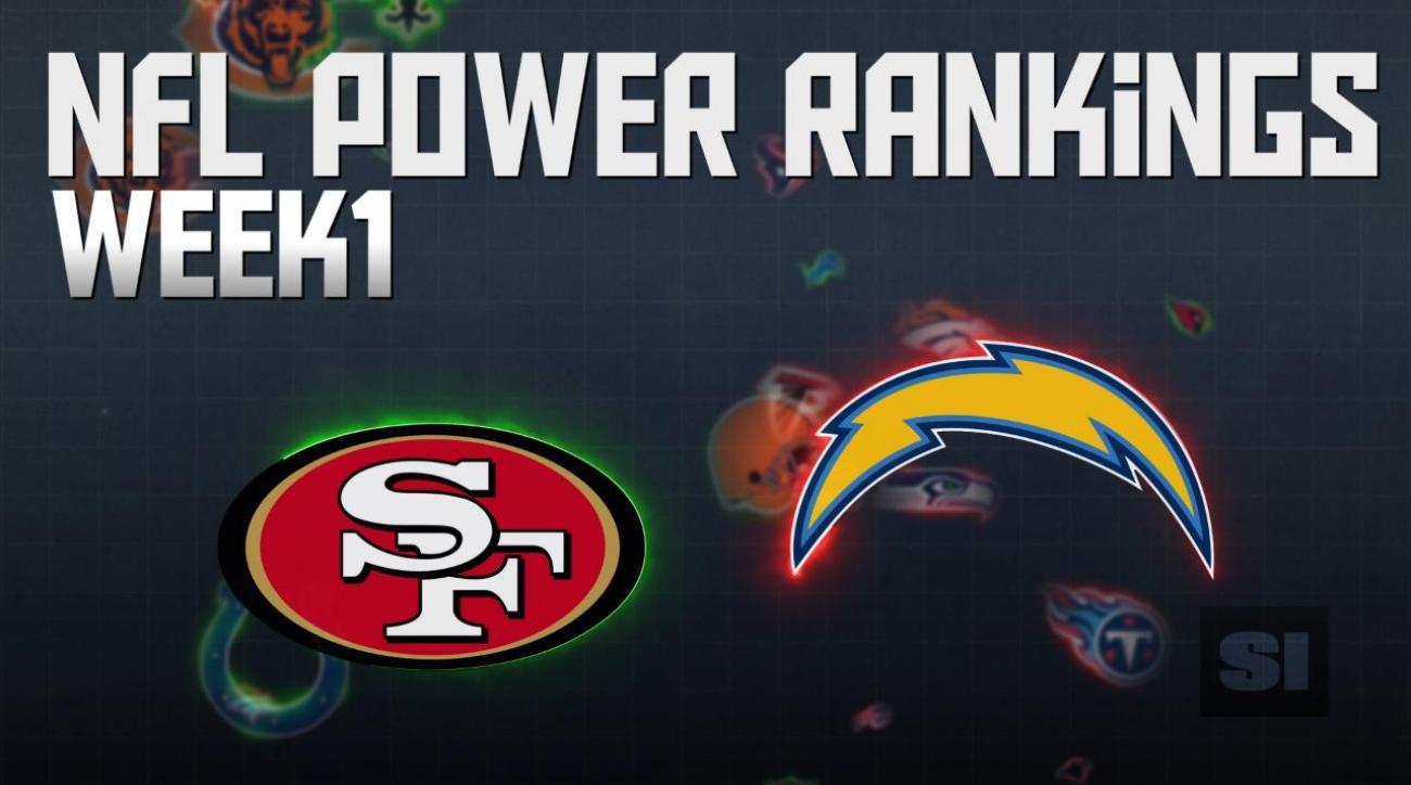 NFL Power Rankings: Week 1
