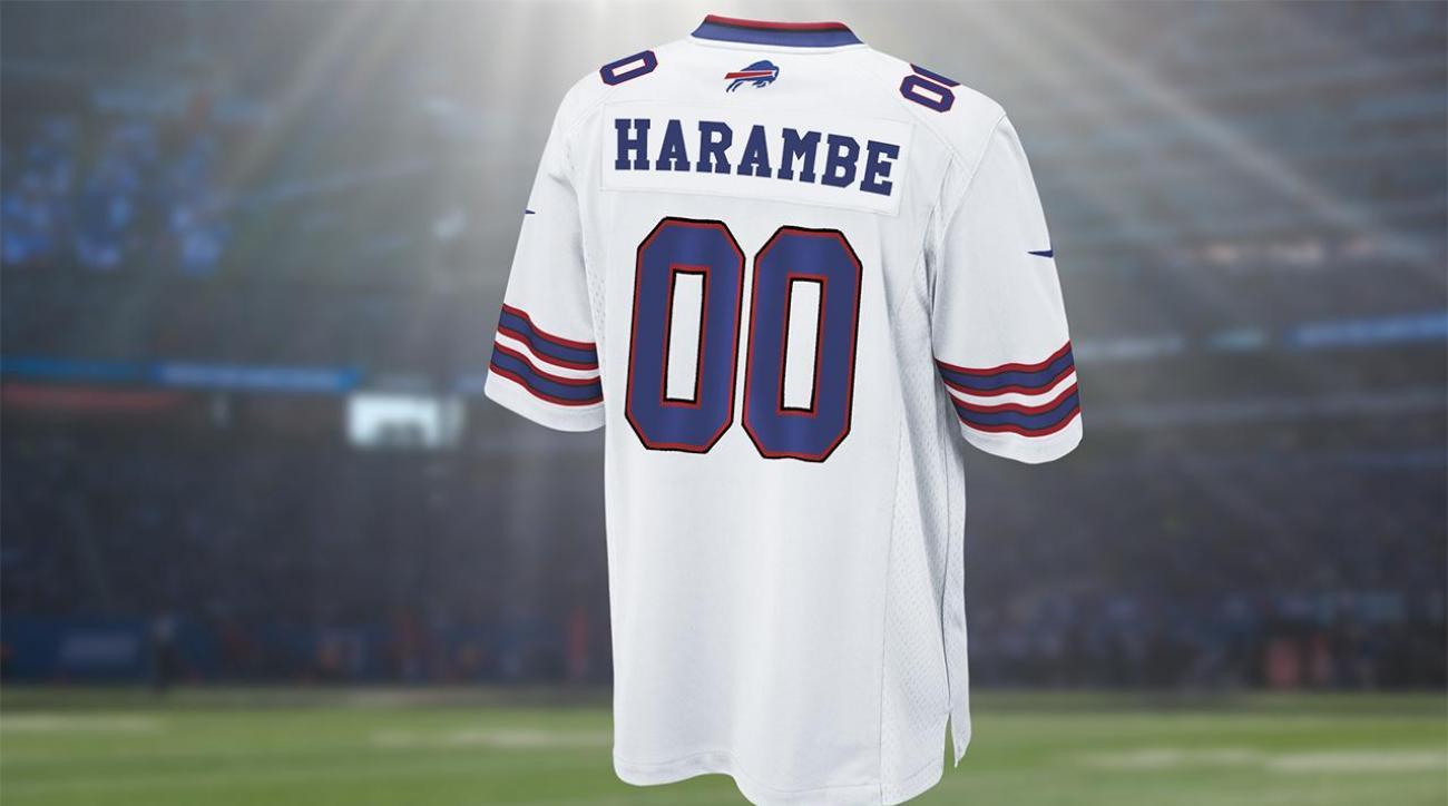 NFL Shop stops selling customized Harambe jerseys