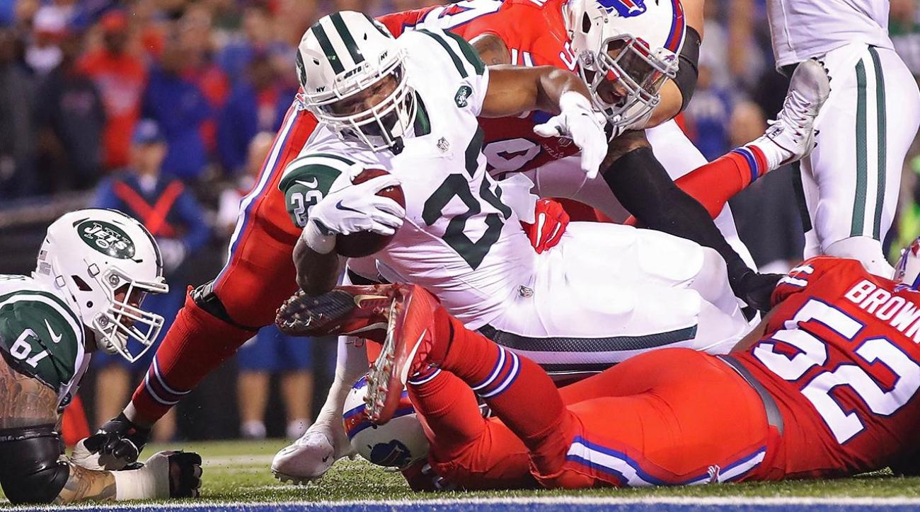 Matt Forte's three touchdowns power Jets past Bills