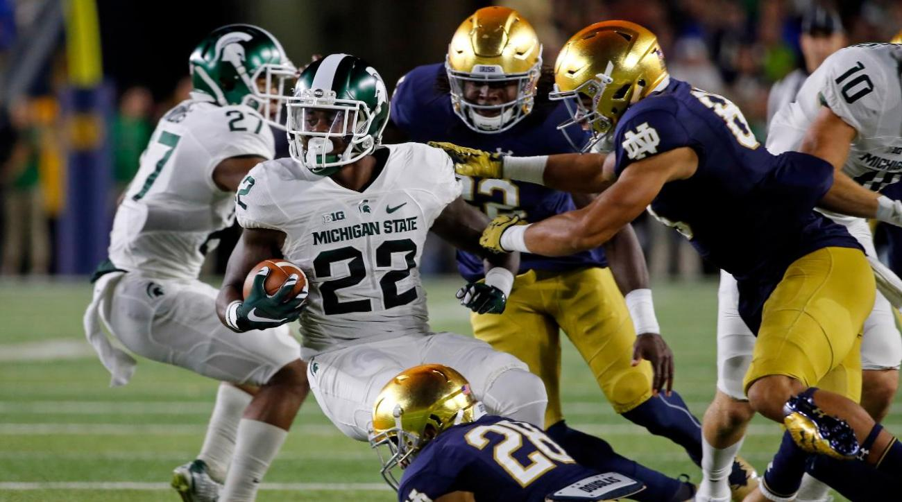 No. 12 Michigan State defeats No. 18 Notre Dame 36-28