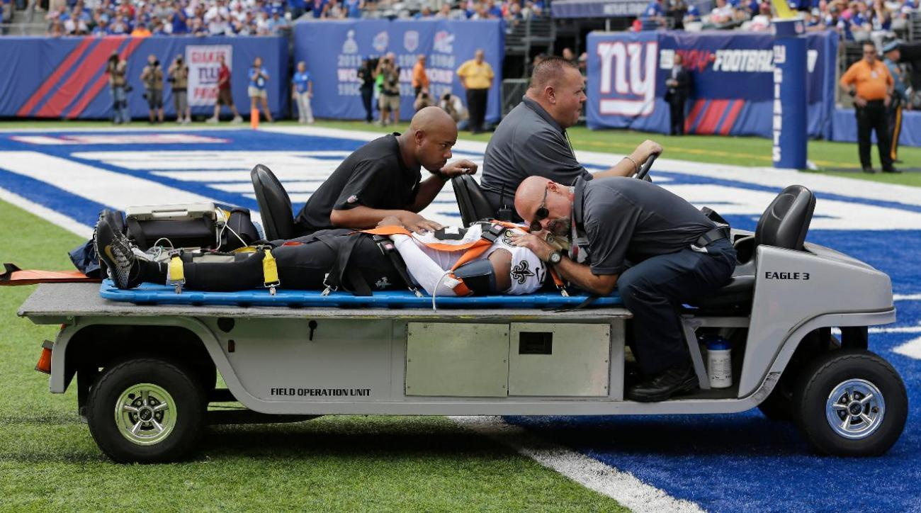 Saints CB PJ Williams carted off field with concussion IMAGE