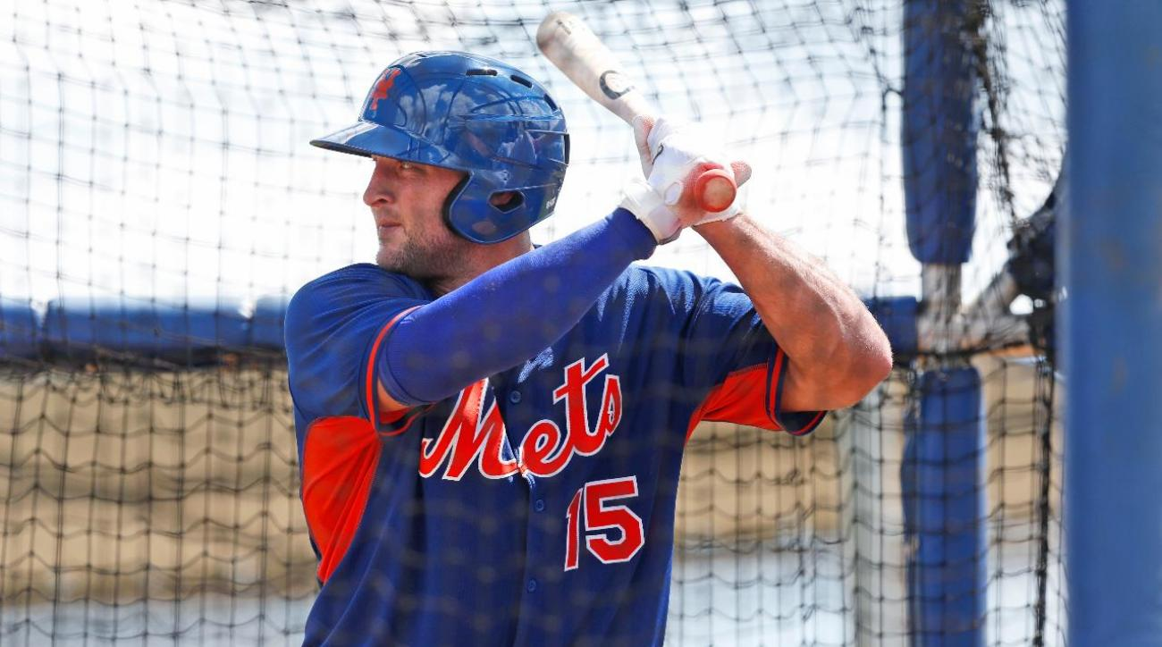 Tim Tebow's first workout with the Mets