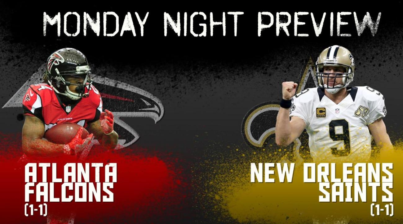 Monday night preview: Falcons vs. Saints