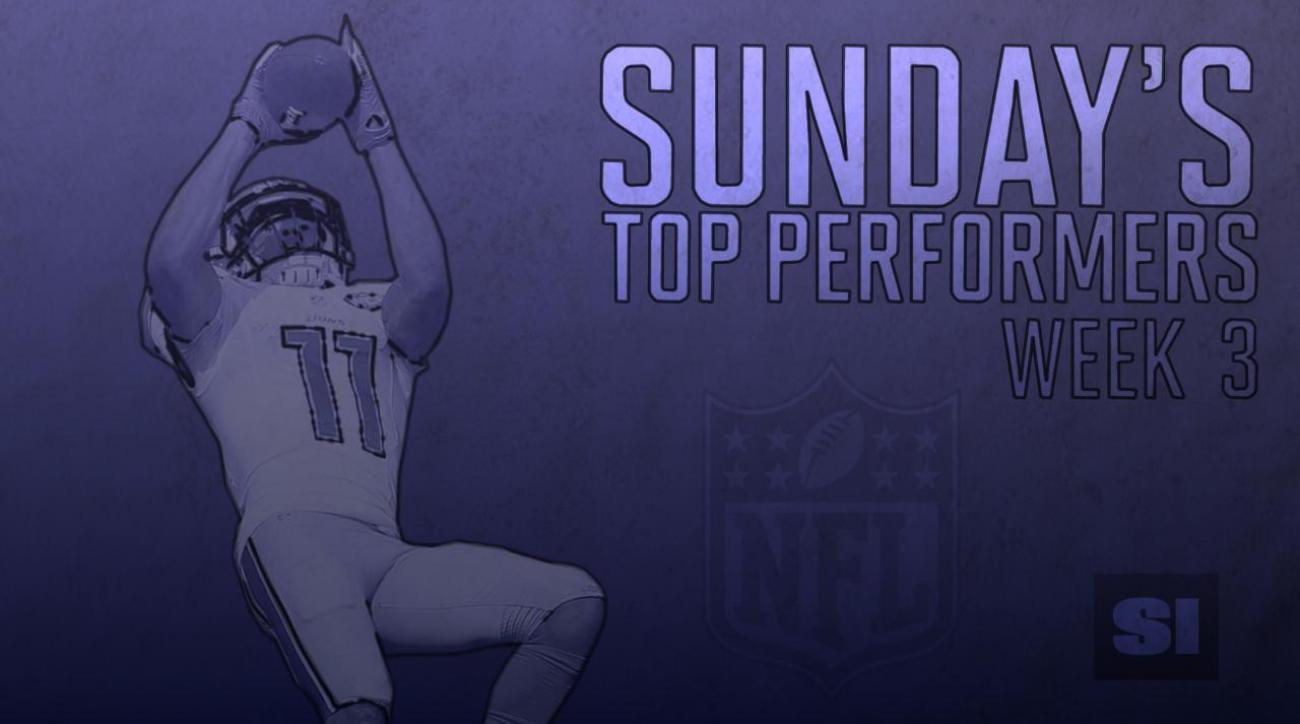 Sunday's top performers: Week 3