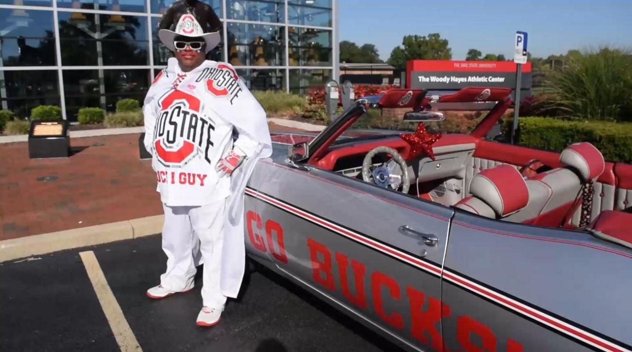 check out osu superfan buck i guy 39 s 1970 chevy impala. Black Bedroom Furniture Sets. Home Design Ideas