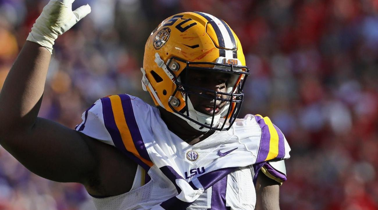 LSU's Davon Godchaux has suspension lifted after domestic violence arrest