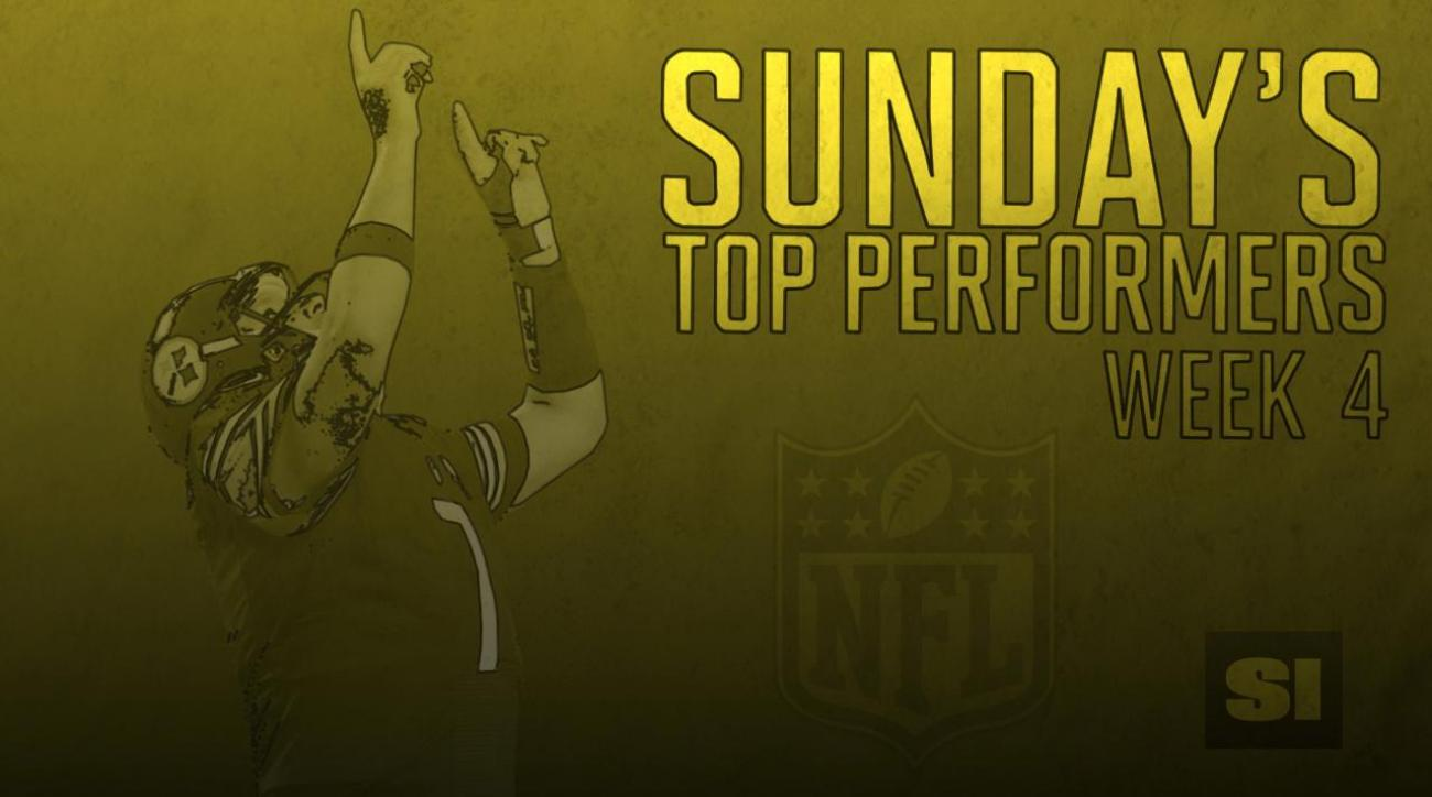 Sunday's top performers: Week 4