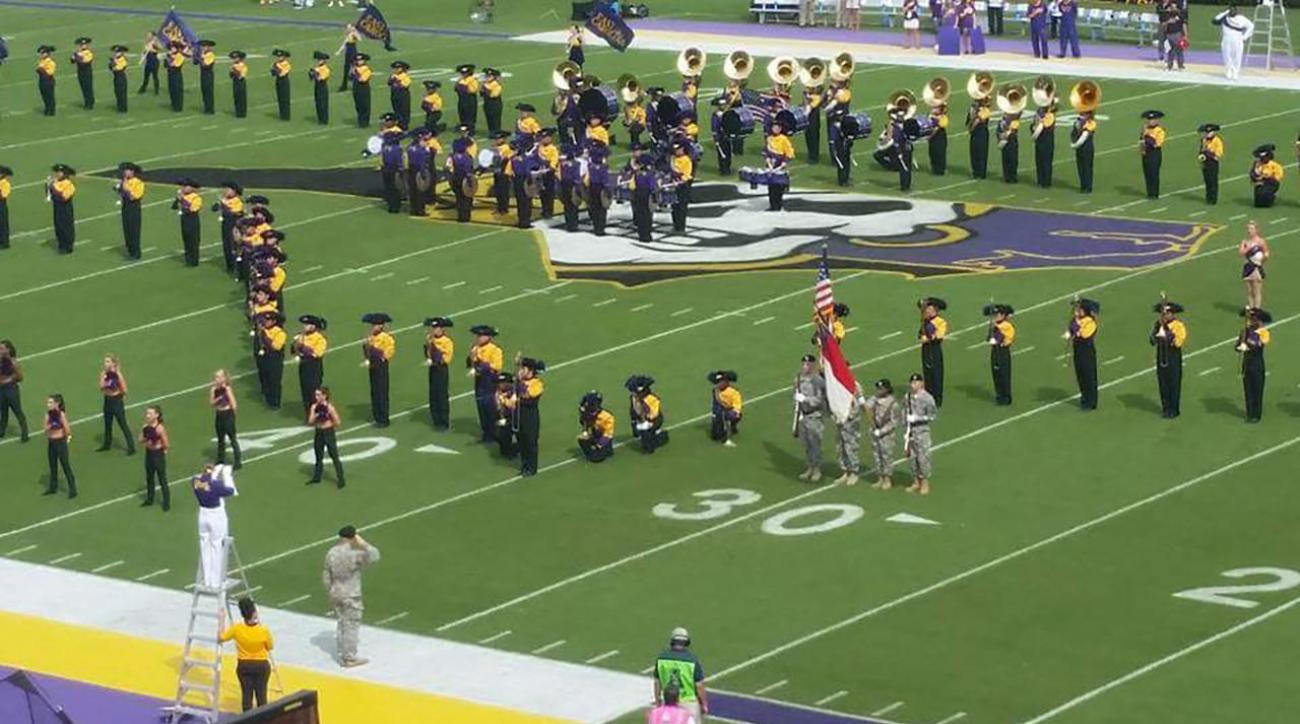ESPN affiliate won't air East Carolina football game over band's protest