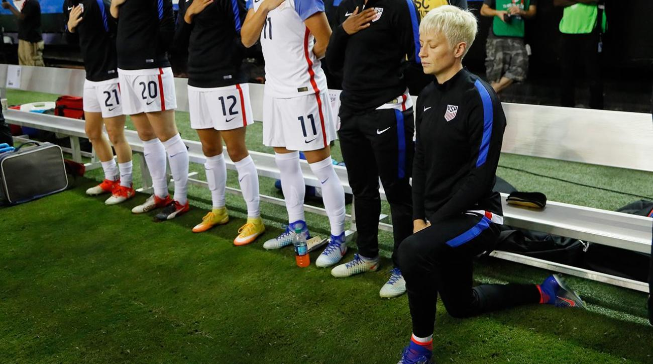 Megan Rapinoe explains why she knelt during national anthem