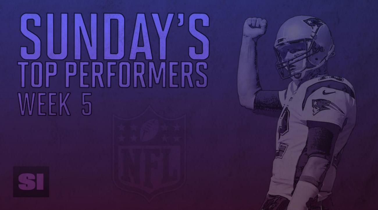 Sunday's top performers: Week 5