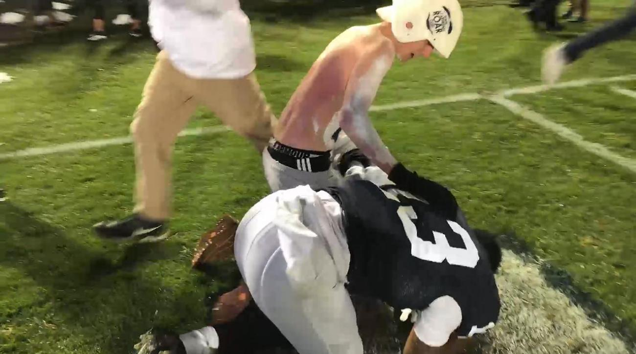 Penn State goes wild after upsetting Ohio State