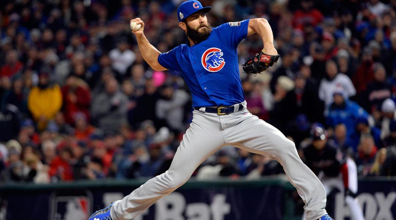 Cubs tie up series behind Jake Arrieta  IMAGE