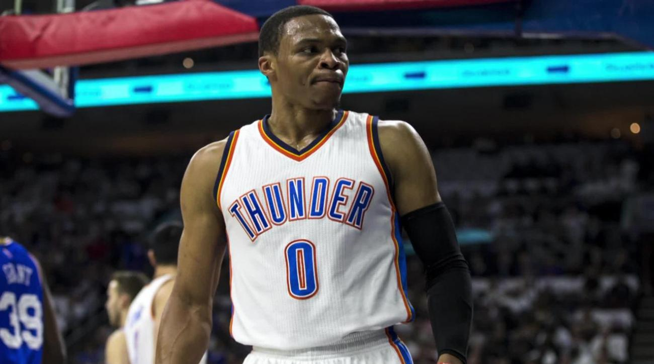 76ers fan ejected for flipping off Thunder guard Russell Westbrook