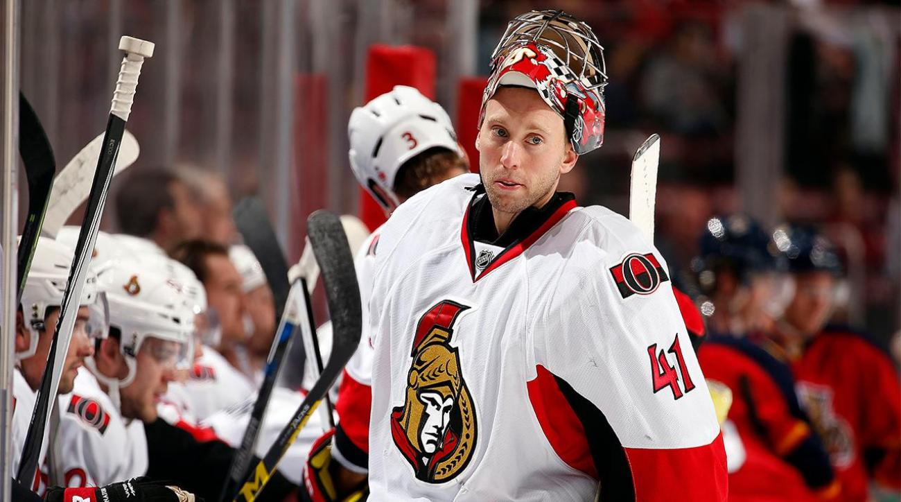 Senators goalie Craig Anderson posts shutout after wife's cancer diagnosis IMAGE