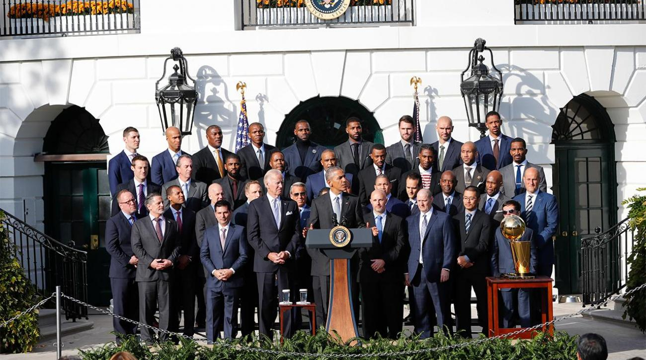 The Cleveland Cavaliers visit the White House