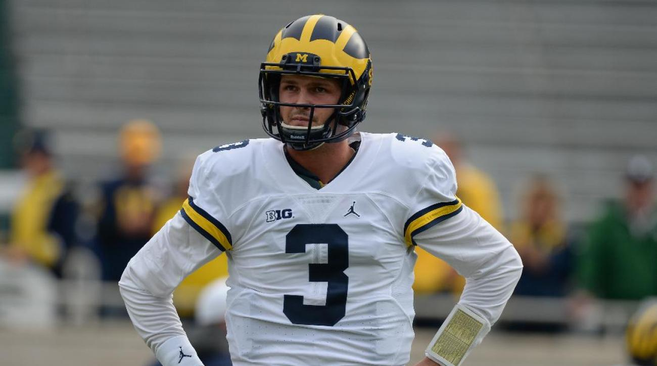 Report: Michigan quarterback Wilton Speight (shoulder) out for regular season