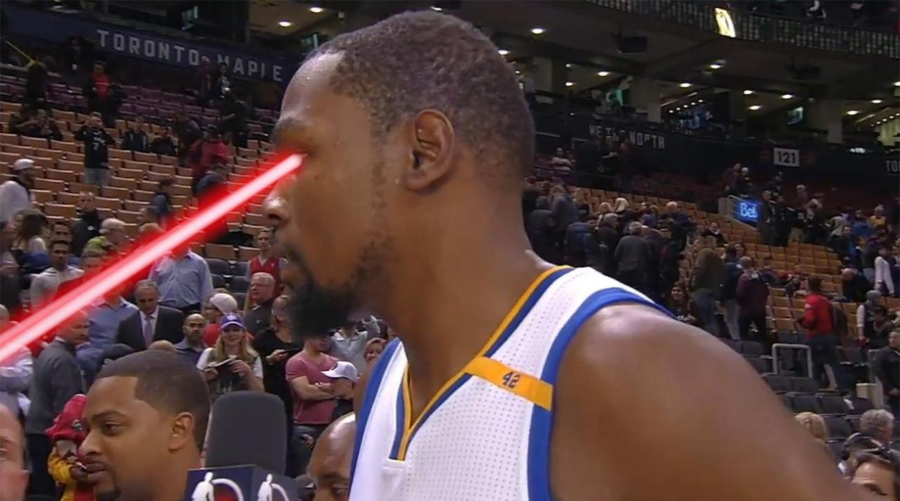 Kevin Durant was not a fan of 'Drake Night' in Toronto
