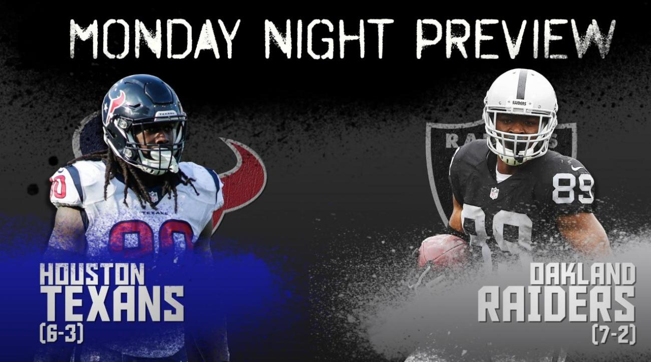 Monday Night preview: Texans vs. Raiders
