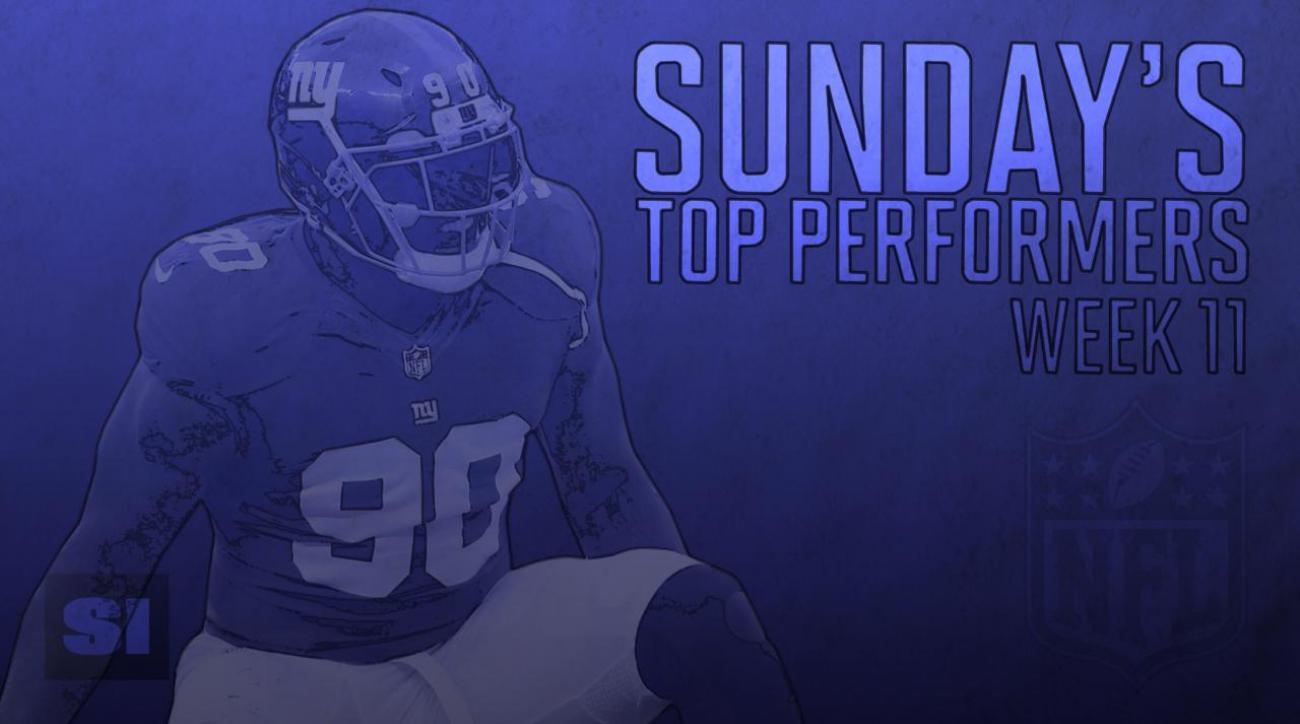 Sunday's Top Performers: Week 11