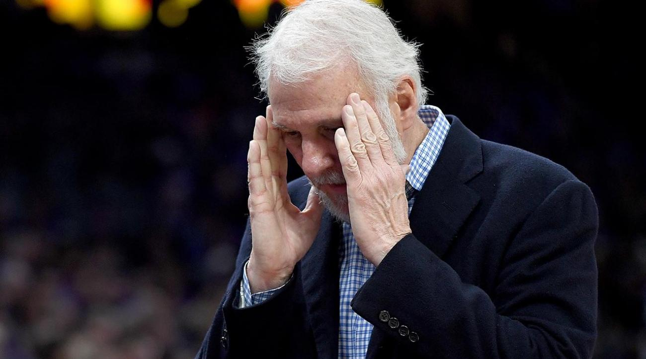 Gregg Popovich rips team's 'awful, pathetic' performance vs. Mavericks