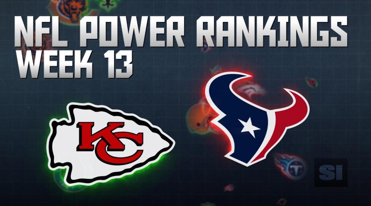 NFL Power Rankings: Week 13