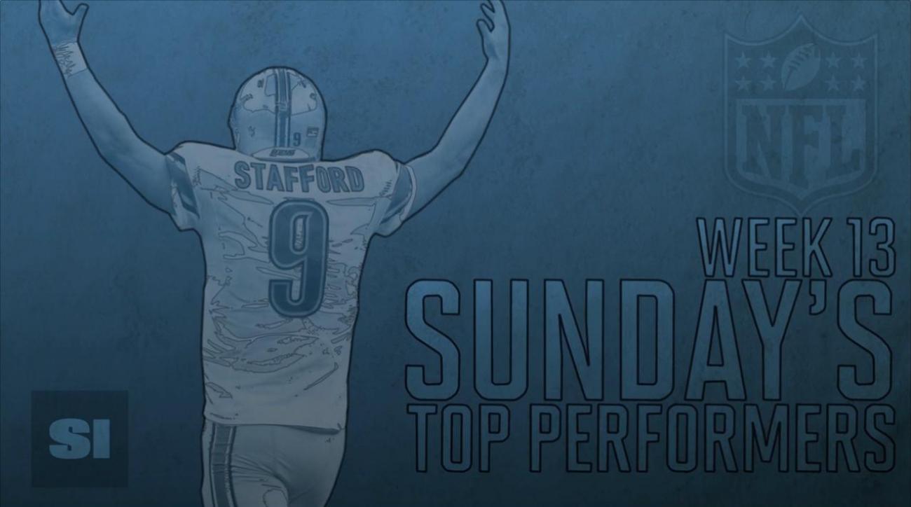 Sunday's Top Performers: Week 13