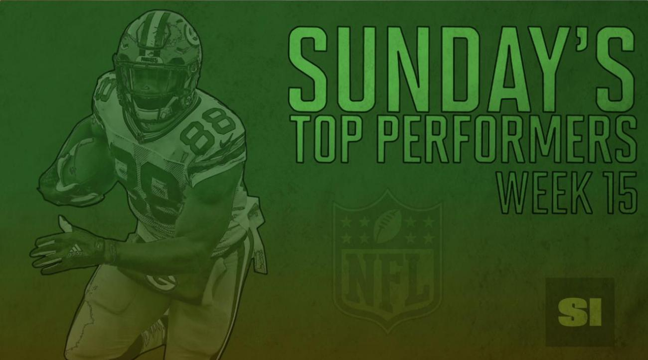 Sunday's Top Performers: Week 15