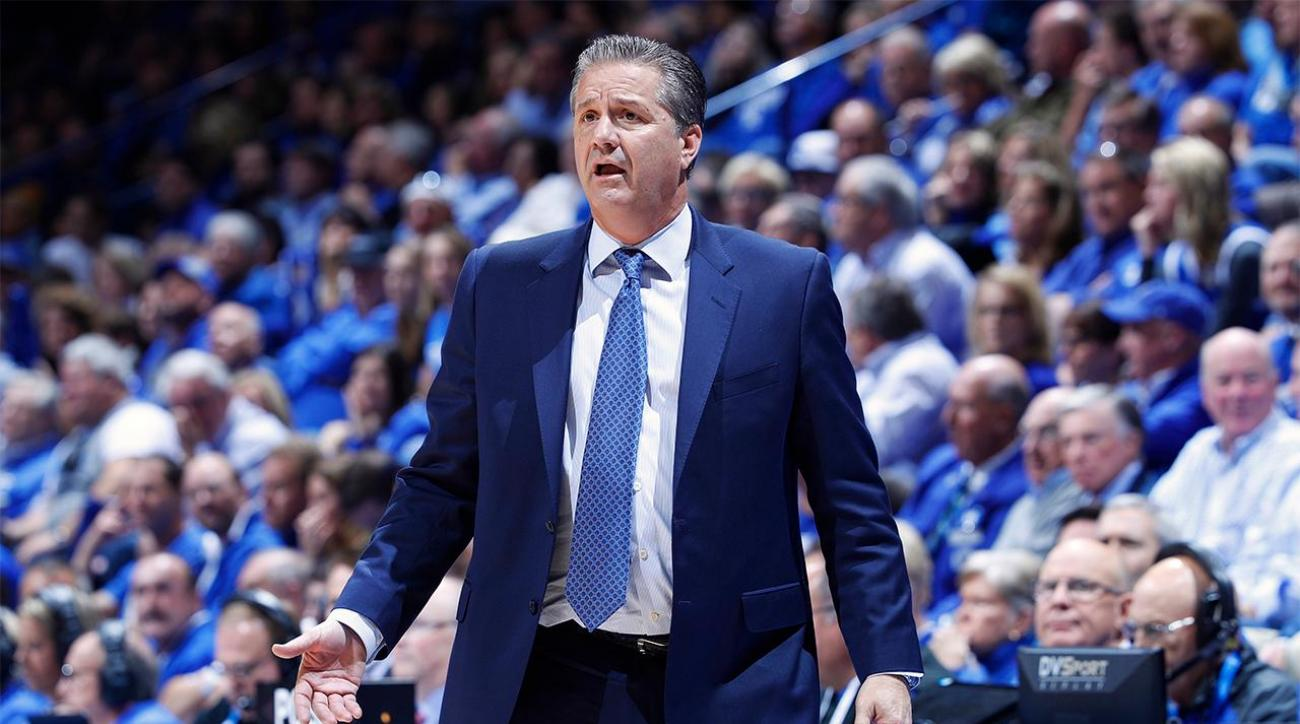 John Calipari shows up in workout clothes, trolls columnist