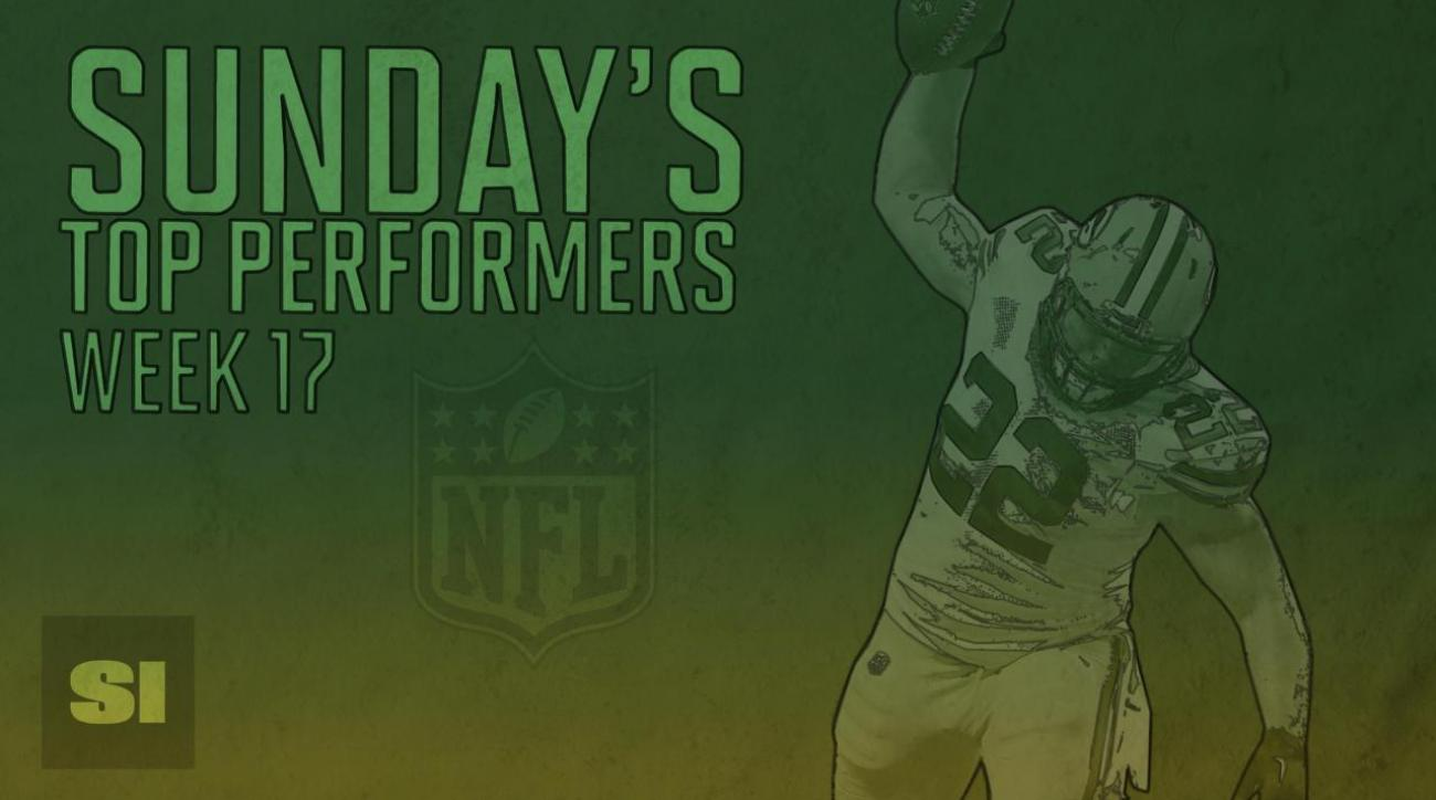 Sunday's Top Performers: Week 17