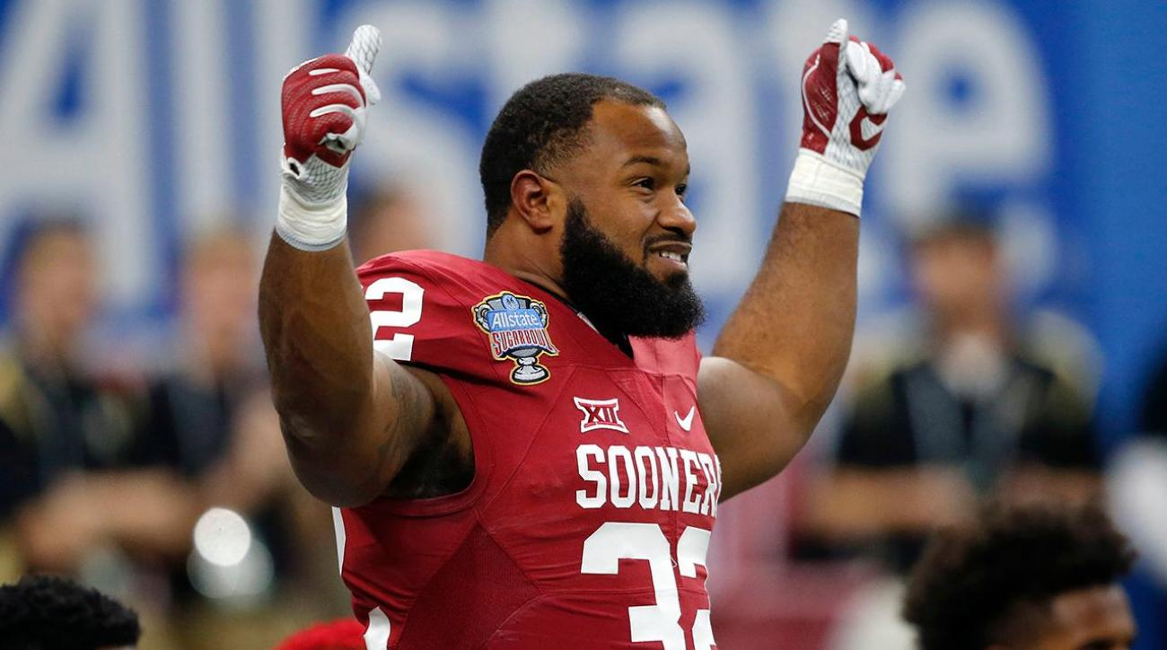 Samaje Perine breaks Oklahoma's all-time rushing record in Sugar Bowl win