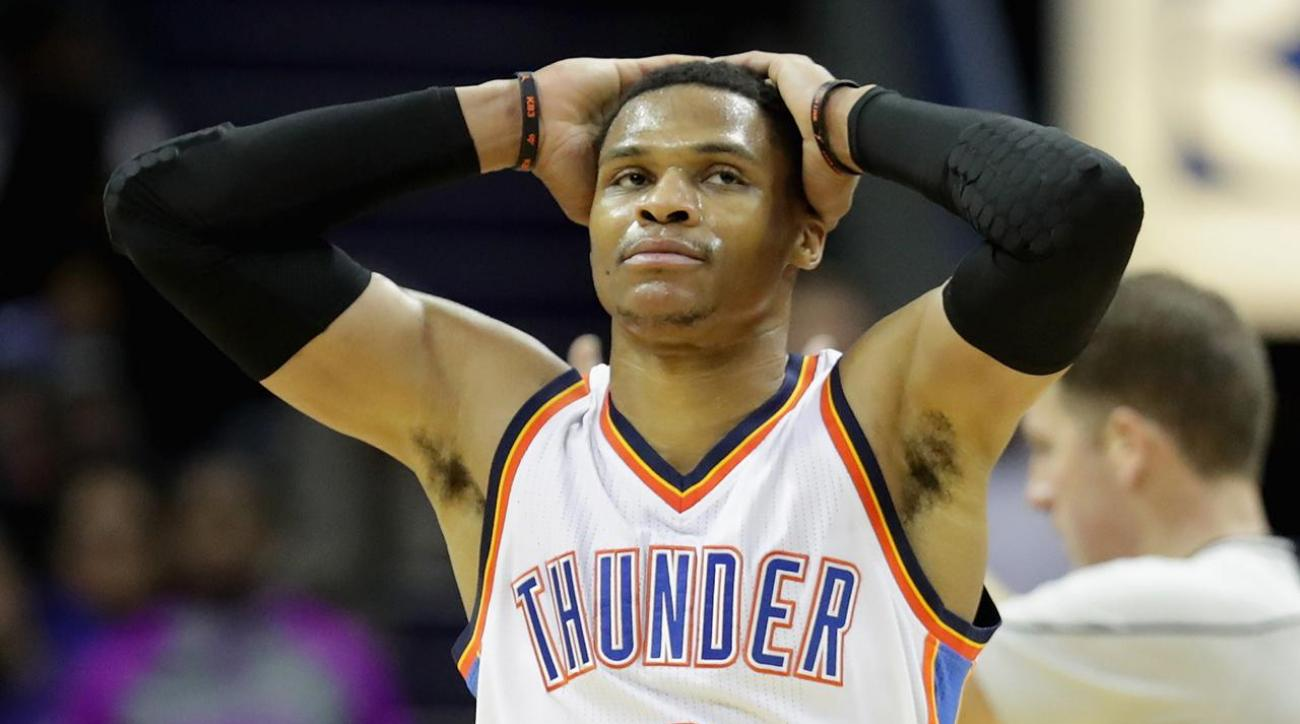 Westbrook drills ref in head with ball, says it was unintentional