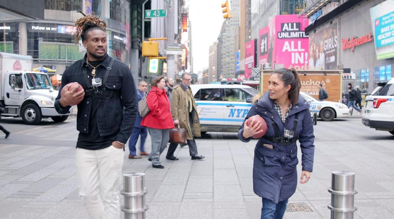 We raced 2-time Pro Bowler Cordarrelle Patterson through Times Square IMG