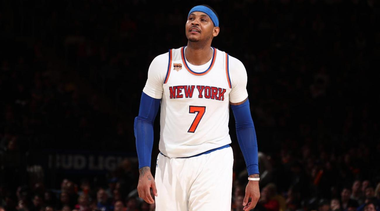 Report: Knicks approached Cavaliers about Carmelo Anthony-Kevin Love trade