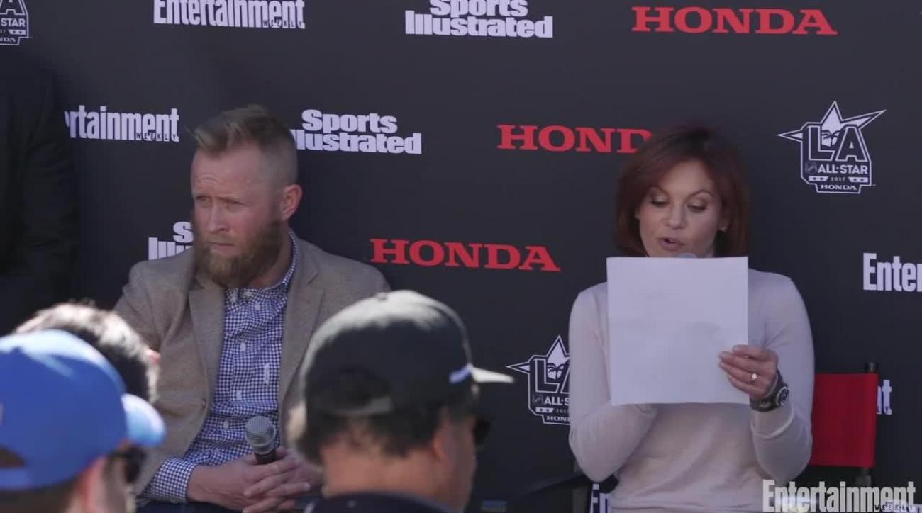 Hockey Goes Hollywood: Watch celebs, NHL stars battle it out in trivia challenge