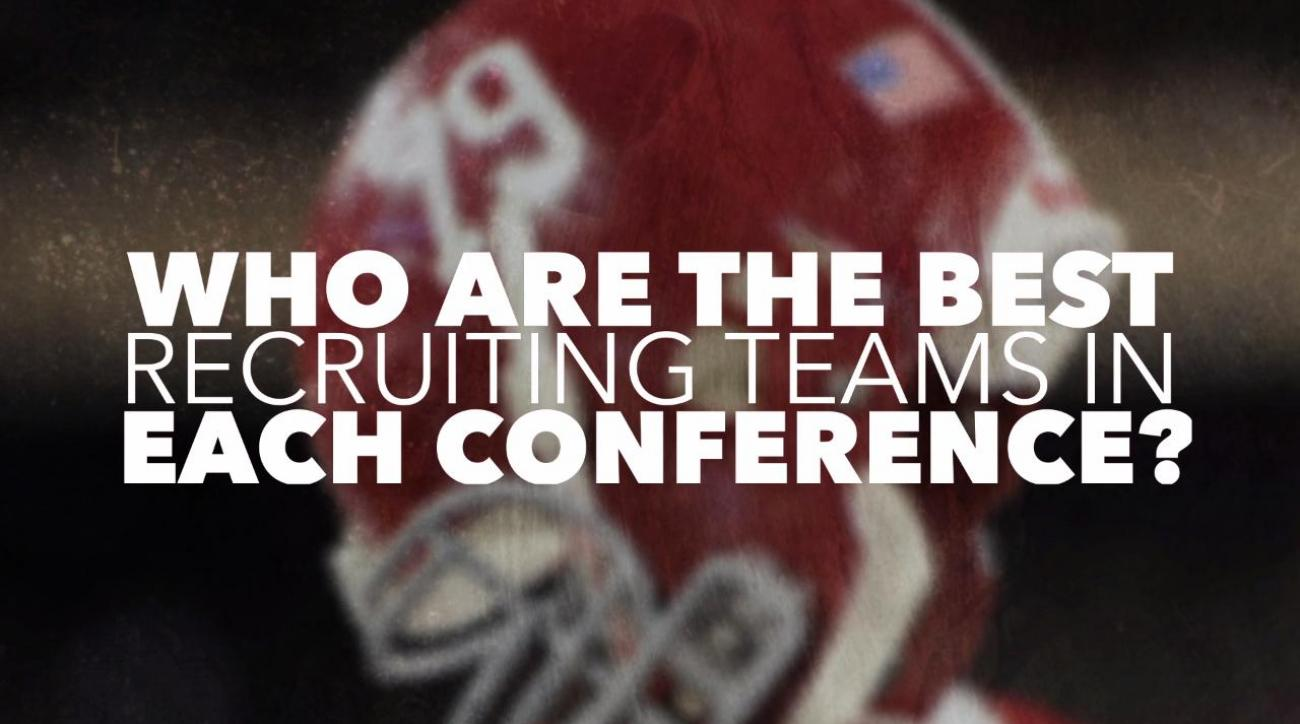 Which team in each conference has recruited the best?