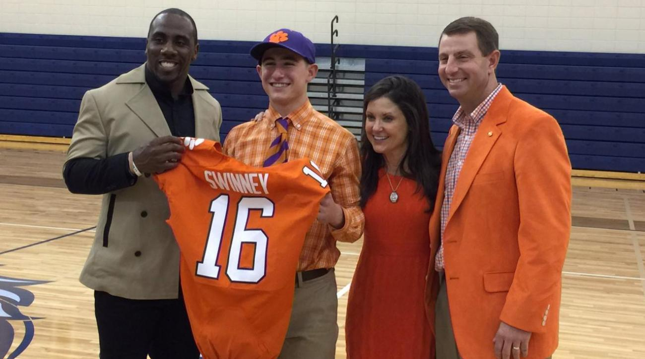 Dabo Swinney's son signs with Clemson as walk-on