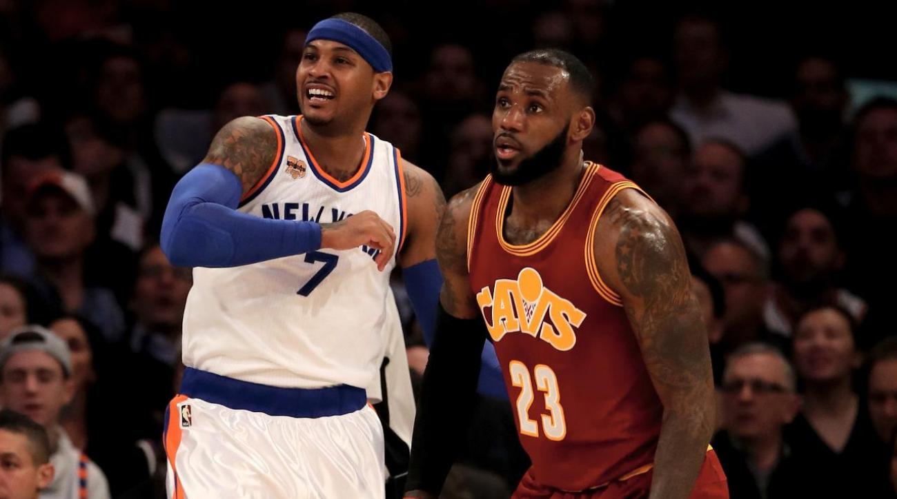 LeBron James denies he wants Love-Anthony trade