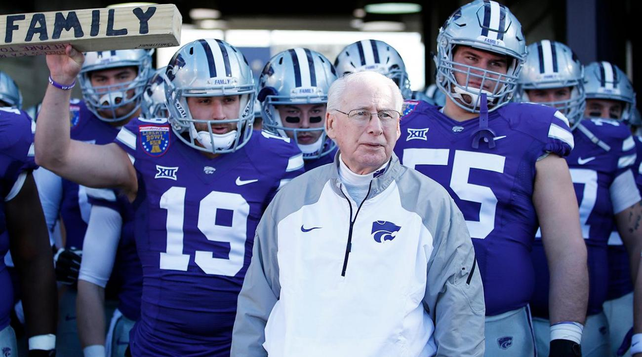 Kansas State head coach Bill Snyder being treated for throat cancer
