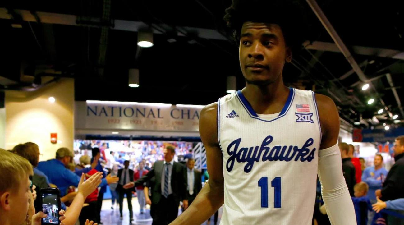 Kansas forward Josh Jackson charged with misdemeanor property damage