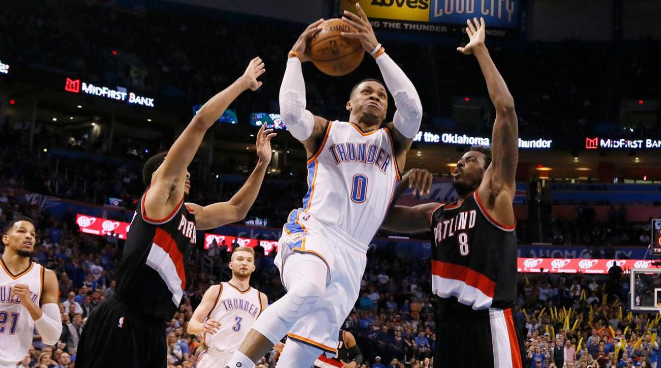 Russell Westbrook scores a career-high 58 points in loss to Trail Blazers IMAGE