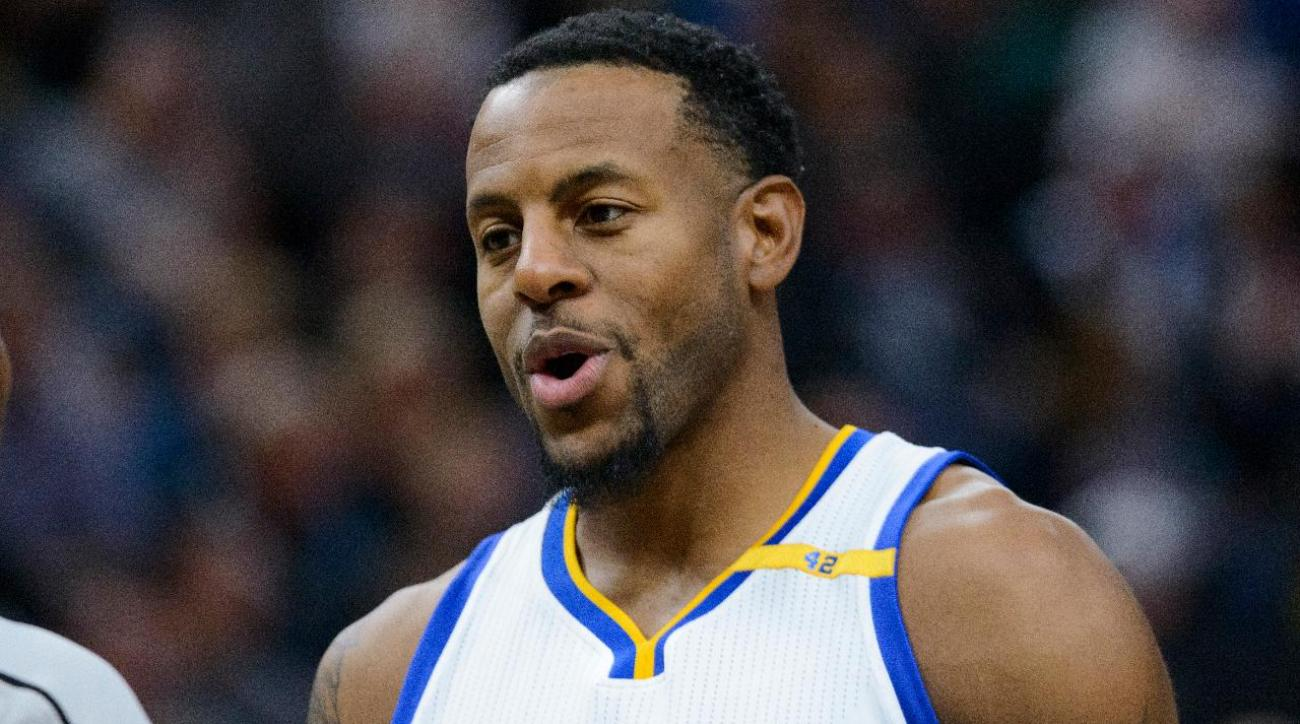 Andre Iguodala fined for 'master' comments, says he and Kerr 'are in a great place'