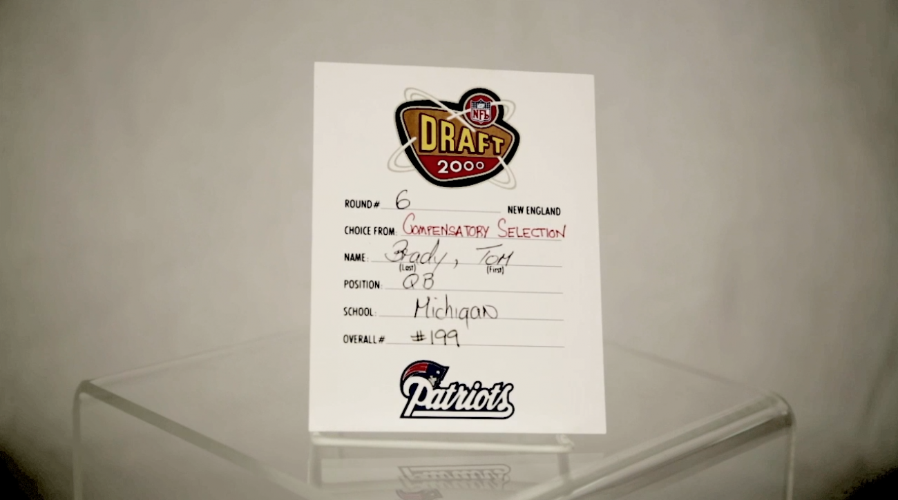 NFL 95: Tom Brady Draft card